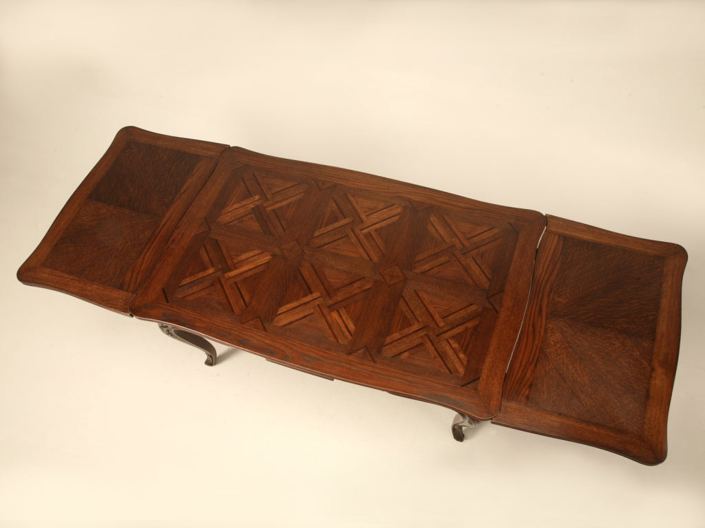 Italian Louis XV Oak And Walnut Draw Leaf Table For Sale At 1stdibs. Full resolution  photograph, nominally Width 1024 Height 768 pixels, photograph with #AC4E1F.