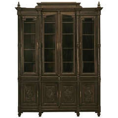 Bookcase, French Ebonized Walnut with Original Finish