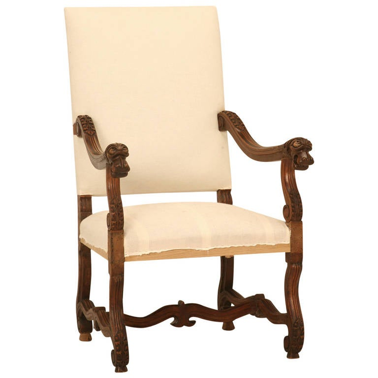 A Pair Of Period French Chairs With Missoni Fabric At 1stdibs: French Walnut Os De Mouton Throne Chair With Dog Armrests