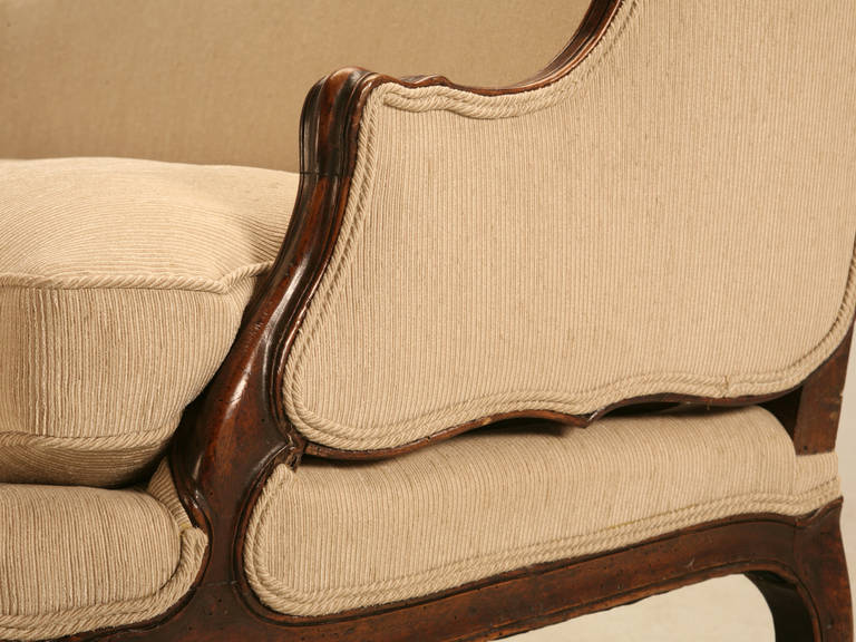 Down Louis XV Style French Walnut Sofa For Sale