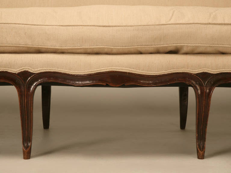 Louis XV Style French Walnut Sofa For Sale 2