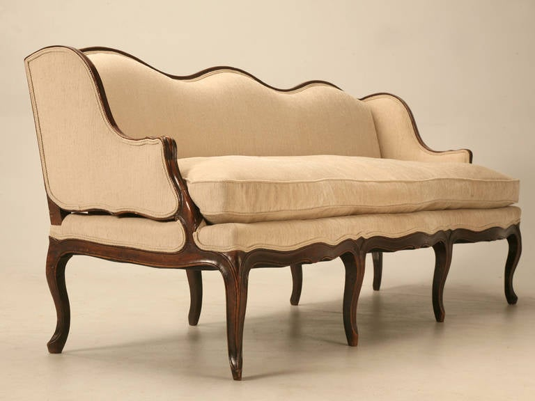 Louis XV Style French Walnut Sofa For Sale 4