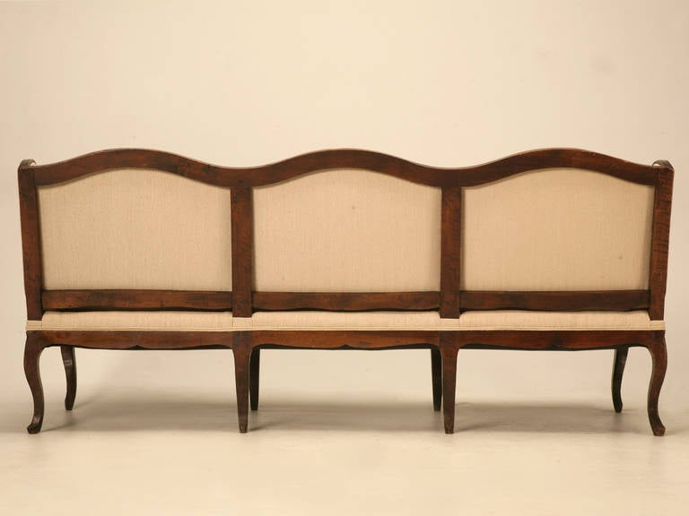 Louis XV Style French Walnut Sofa For Sale 5