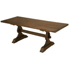 Antique French Farm, or Trestle Table