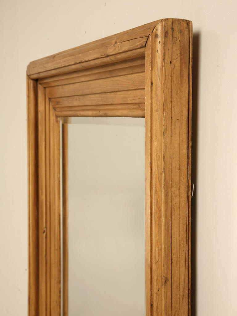 Antique English Scrubbed Pine Mirror At 1stdibs