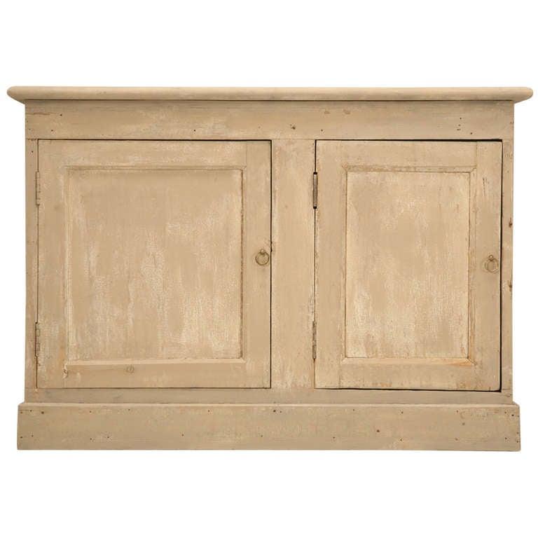 Original Paint Antique French Patisserie Three-Door Cupboard