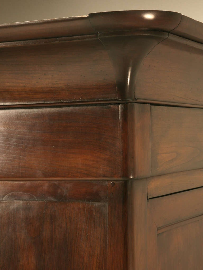 Stellar Antique French Louis Philippe Cherry Armoire With