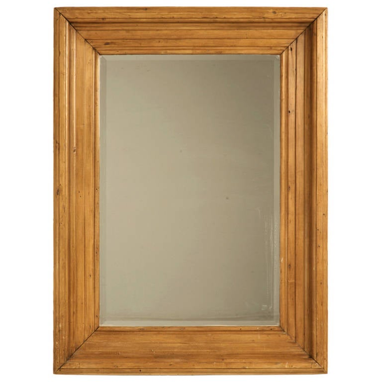 642f1d505f67 Antique English Scrubbed Pine Mirror at 1stdibs