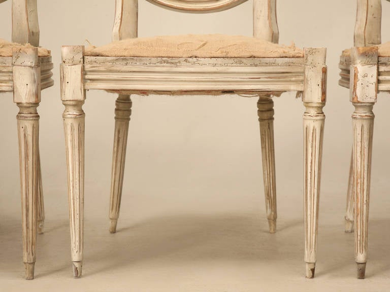 French Louis XVI Style DIning Chairs Circa 1930 At 1stdibs
