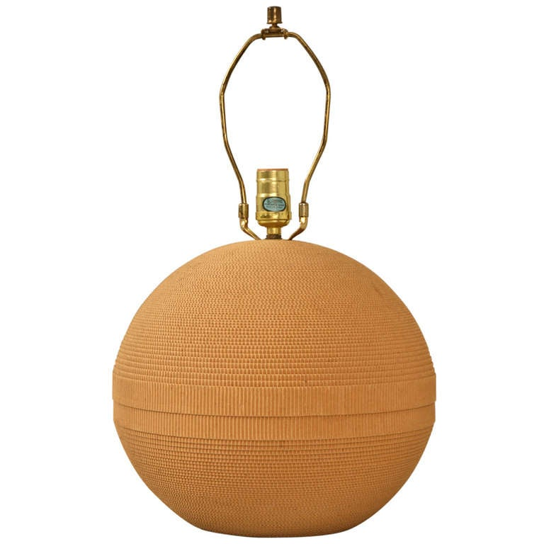 Ultra cool vintage modern sphere shaped cardboard lamp for for O shaped table lamp