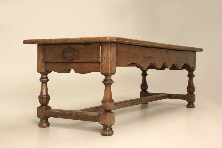 Authentic Original 17th Century Antique French White Oak Table with ...