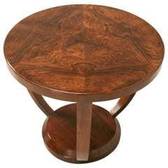 Original Vintage French Art Deco Rosewood Side, End or Center Table