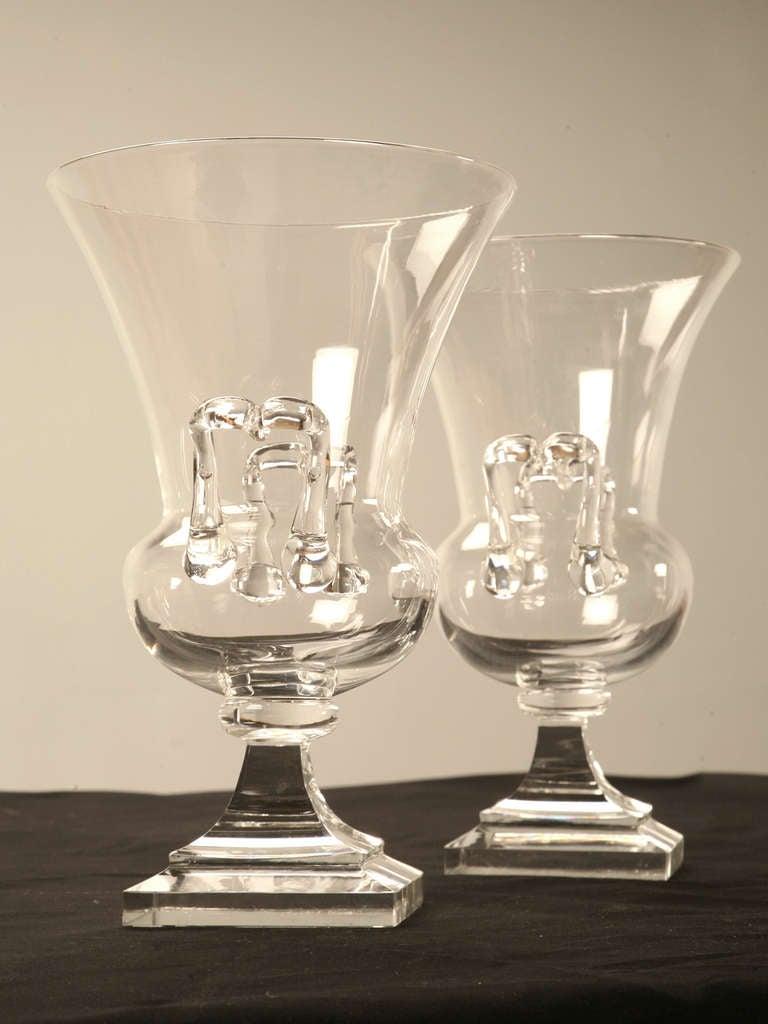 Pair of vintage american steuben glass amphora urns or vases pair of vintage american steuben glass amphora urns or vases with handles in good reviewsmspy