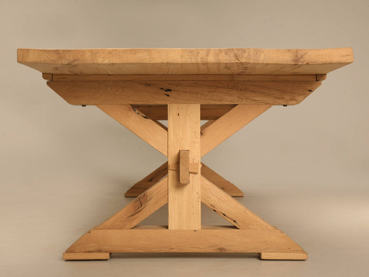 Custom Made Farm Table in French White Oak For Sale 1