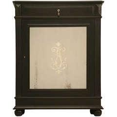 Original Antique French Napoleon III One Drawer over One Mirrored Door Cupboard