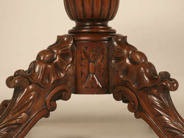 Heavily Carved Antique French Mahogany Restauration Period