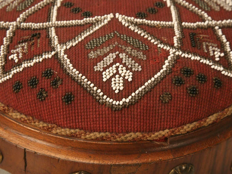 20th Century Antique English Footstool For Sale