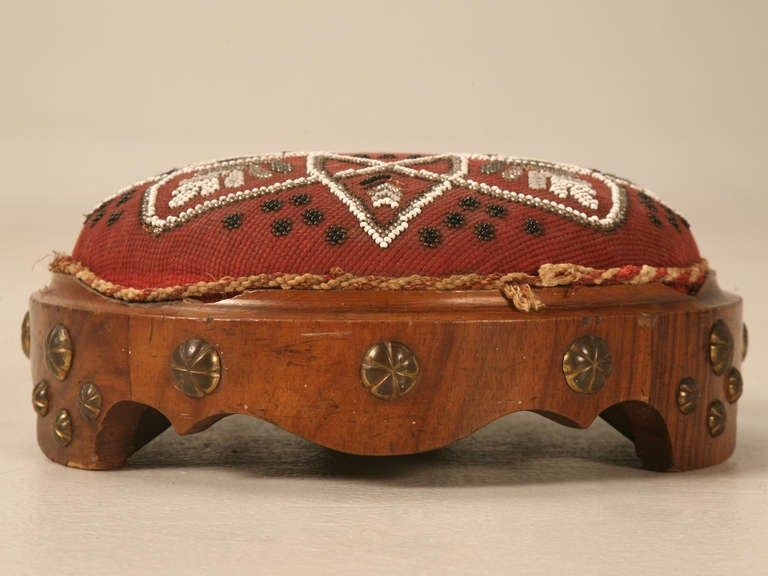 Antique English Footstool For Sale 1