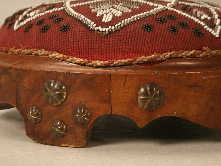 Antique English Footstool For Sale 2