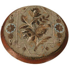c1900 Antique English Victorian Beaded Ladies Footstool
