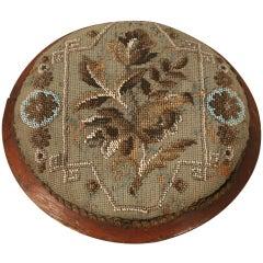 c1900 Antique English Victorian Beaded Ladies Footstool