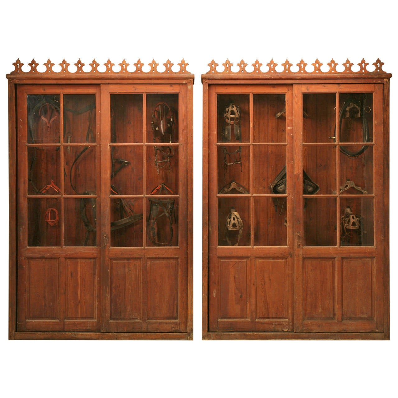 Pair of cabinets from a french vineyard original patina for 1880 kitchen cabinets
