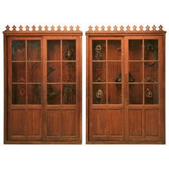 Pair of Tack Cabinets from a French Vineyard, Original Patina, circa 1880-1900