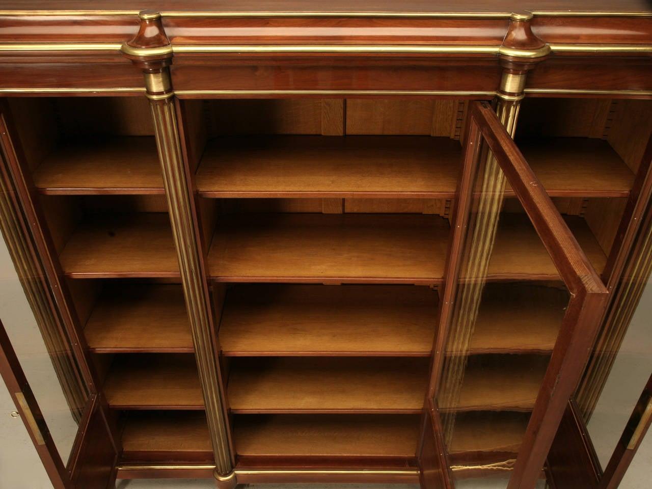 Mahogany Louis XVI Style Bookcase, circa 1900 For Sale 4