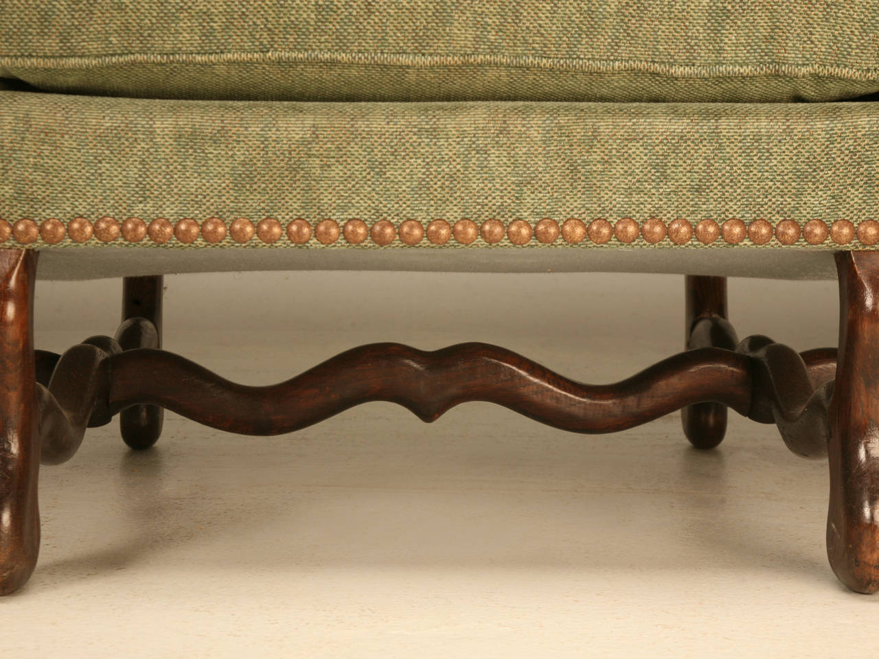Vintage French Os De Mouton Style Small Sofa or Settee 6