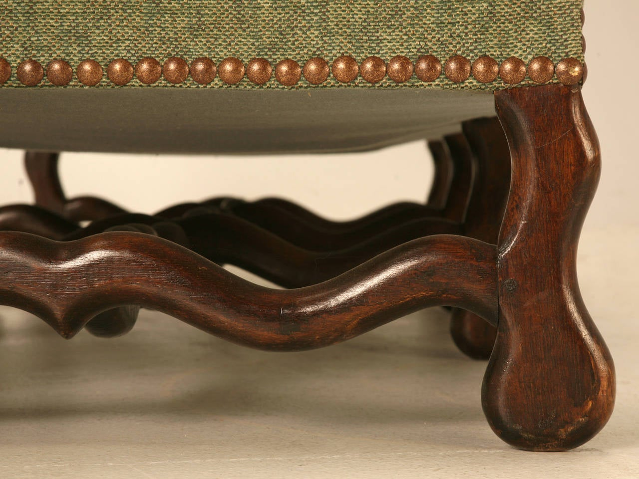 Vintage French Os De Mouton Style Small Sofa or Settee For Sale 2