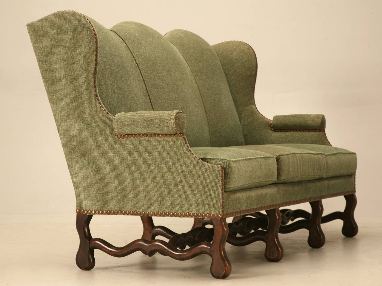 Vintage French Os De Mouton Style Small Sofa or Settee For Sale 4