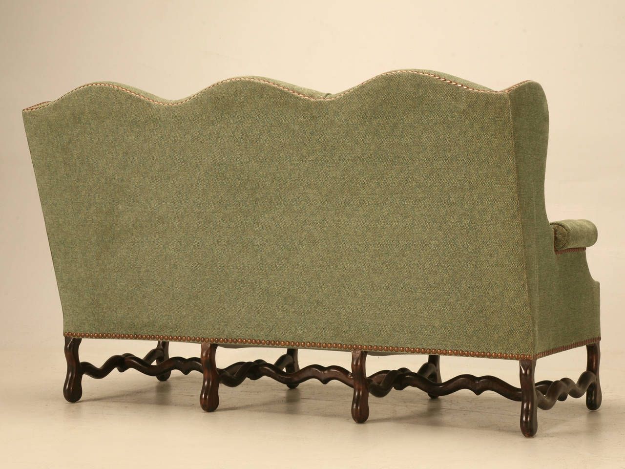 Vintage French Os De Mouton Style Small Sofa or Settee 10