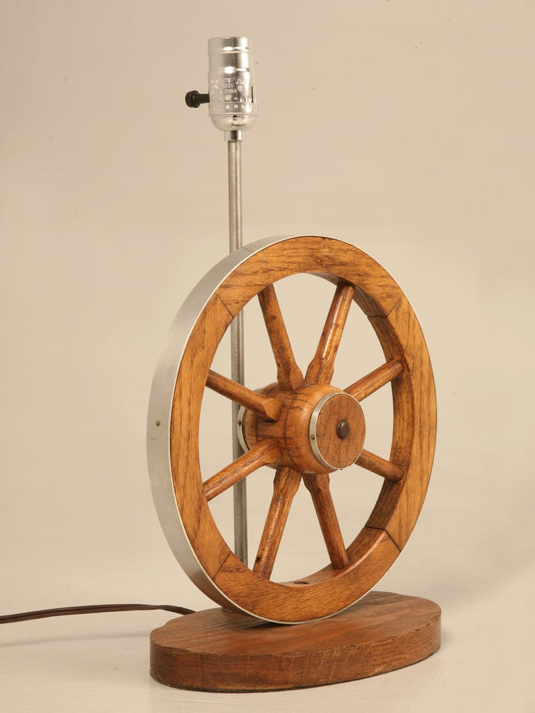Original Vintage A Brandt Ranch Oak Wagon Wheel Western