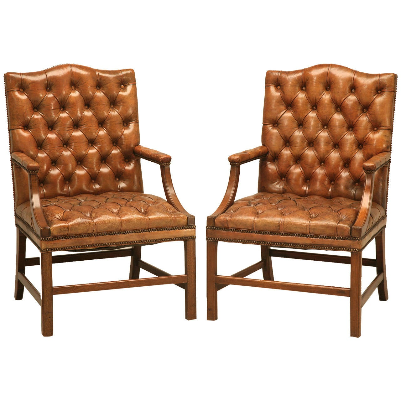 Outstanding Antique Chesterfield Armchair Pics