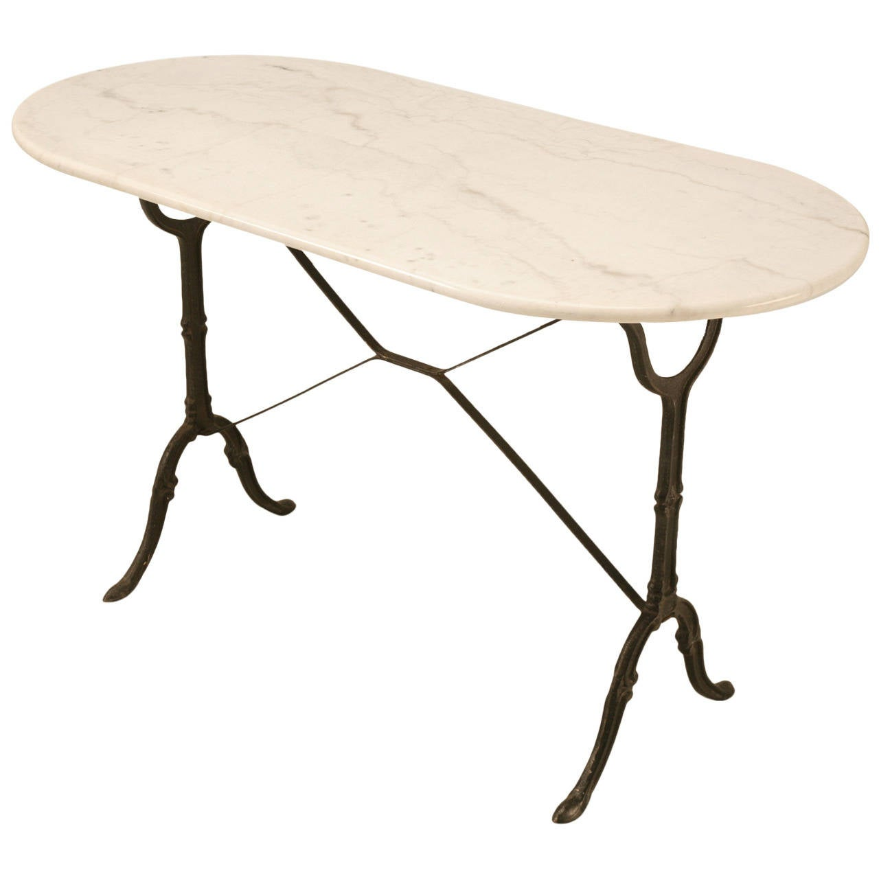 Vintage French Bistro Table With Marble Top At 1stdibs