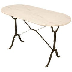 Vintage French Bistro Table with Marble top