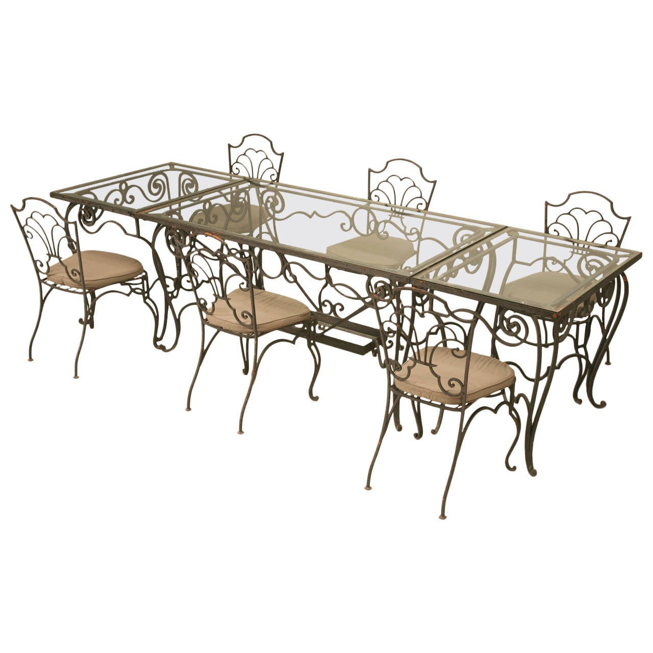 Vintage French Garden Table and Chair Set
