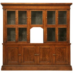 Spectacular Original Antique General Store Tobacco Cabinet in Quarter-Sawn Oak