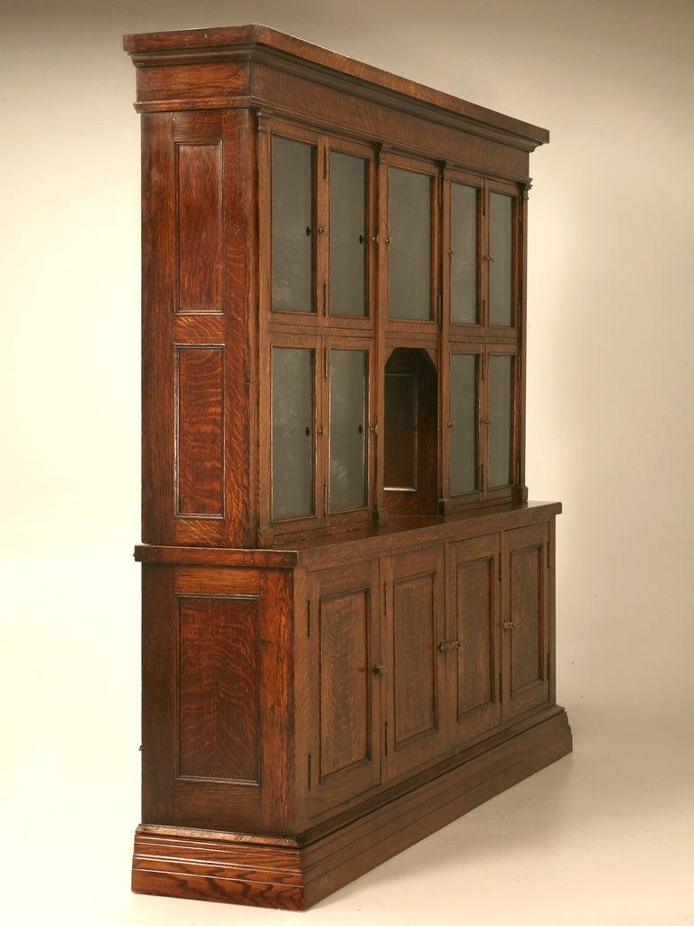 Spectacular Original Antique General Store Tobacco Cabinet in Quarter-Sawn Oak at 1stdibs