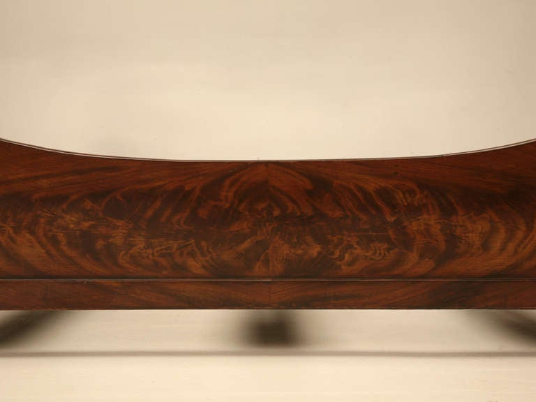 19th Century Circa 1850 Antique French Empire Flame Mahogany Daybed For Sale