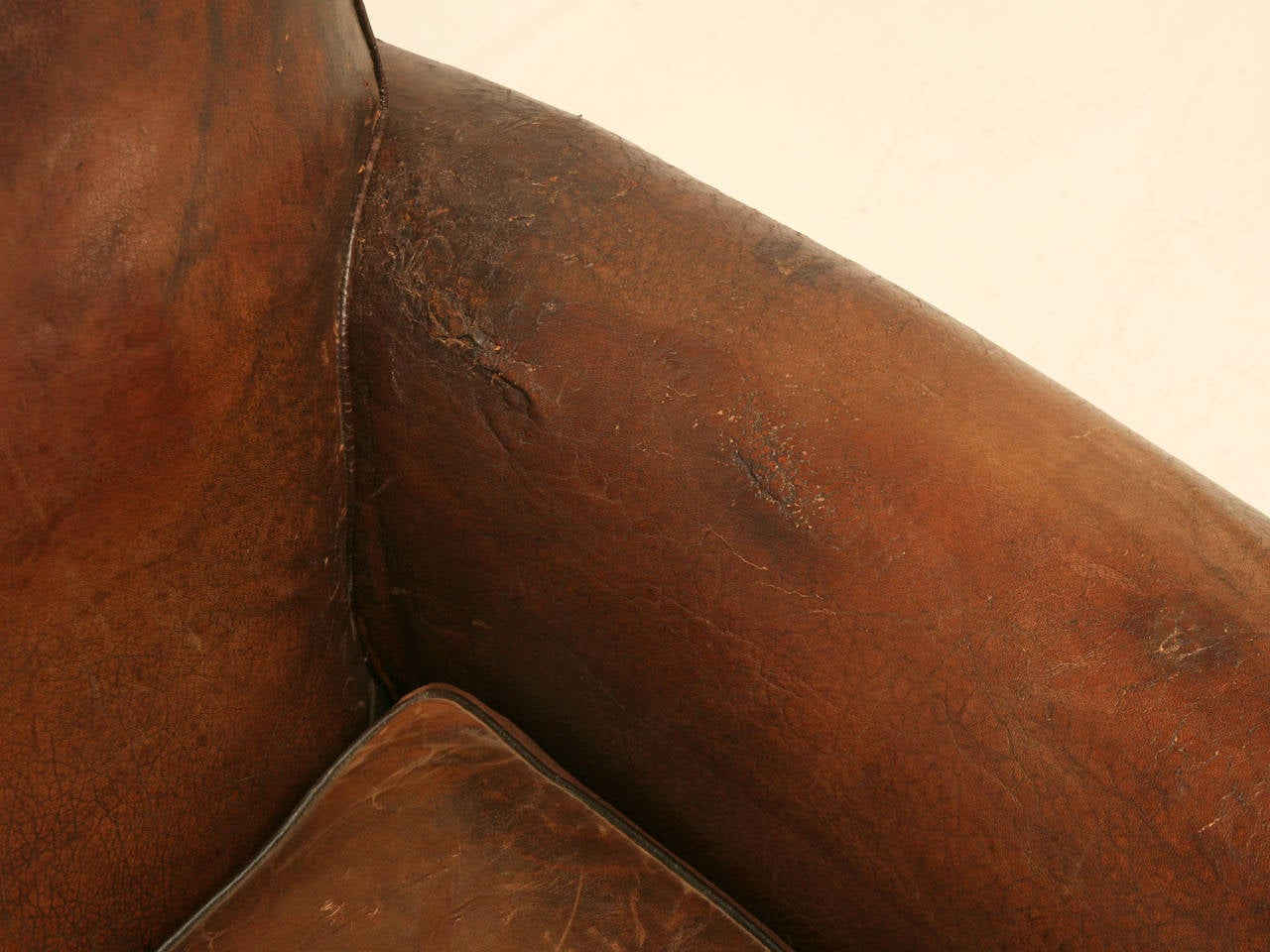 Mid-20th Century C1930's French Leather Club Chair For Sale