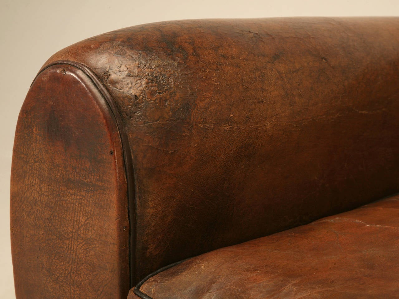 C1930's French Leather Club Chair For Sale 2