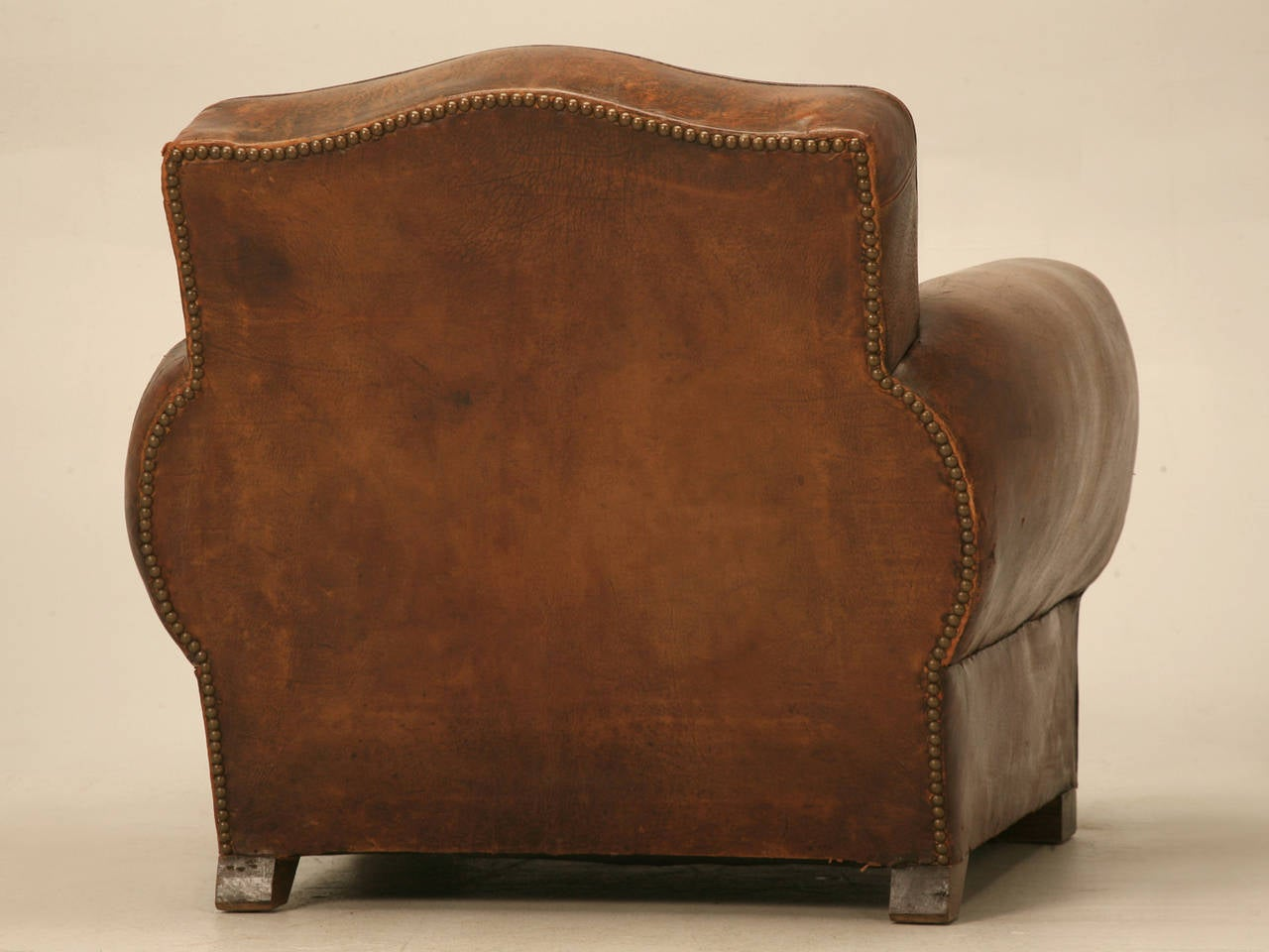 C1930's French Leather Club Chair For Sale 5