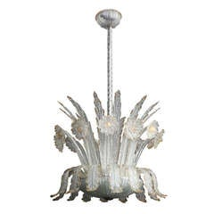 Barovier and Toso Chandelier Made in Venice, 1940