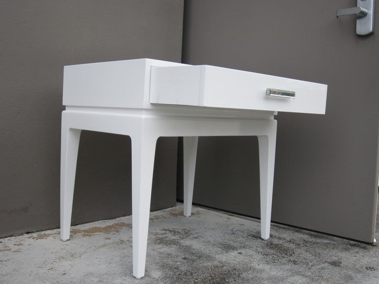 White Lacquer Bedside Cabinets White Lacquer Bedside