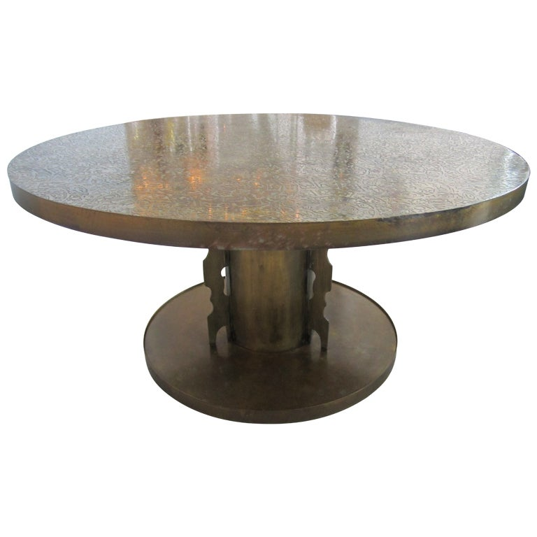 Pickford Coffee Table Bronze: Rare Laverne Bronze Coffee Table At 1stdibs