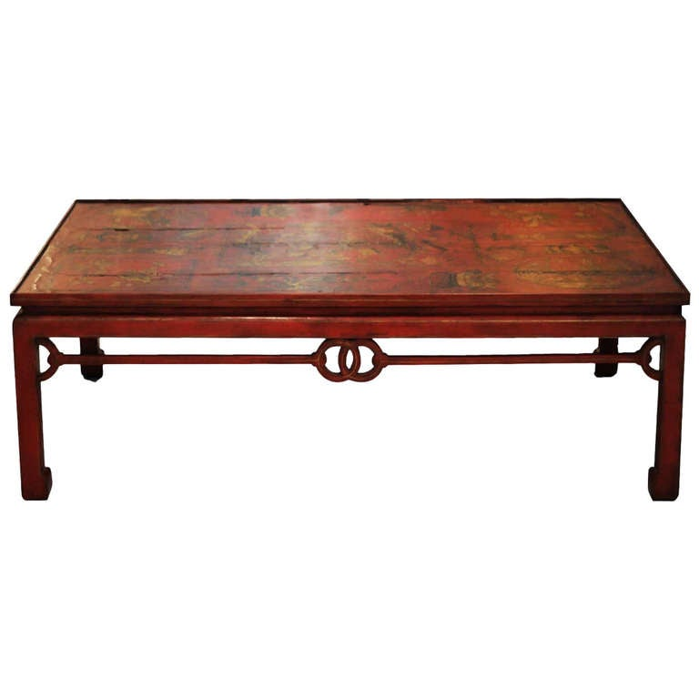 18th Century Chinese Red Lacquer Coffee Table At 1stdibs