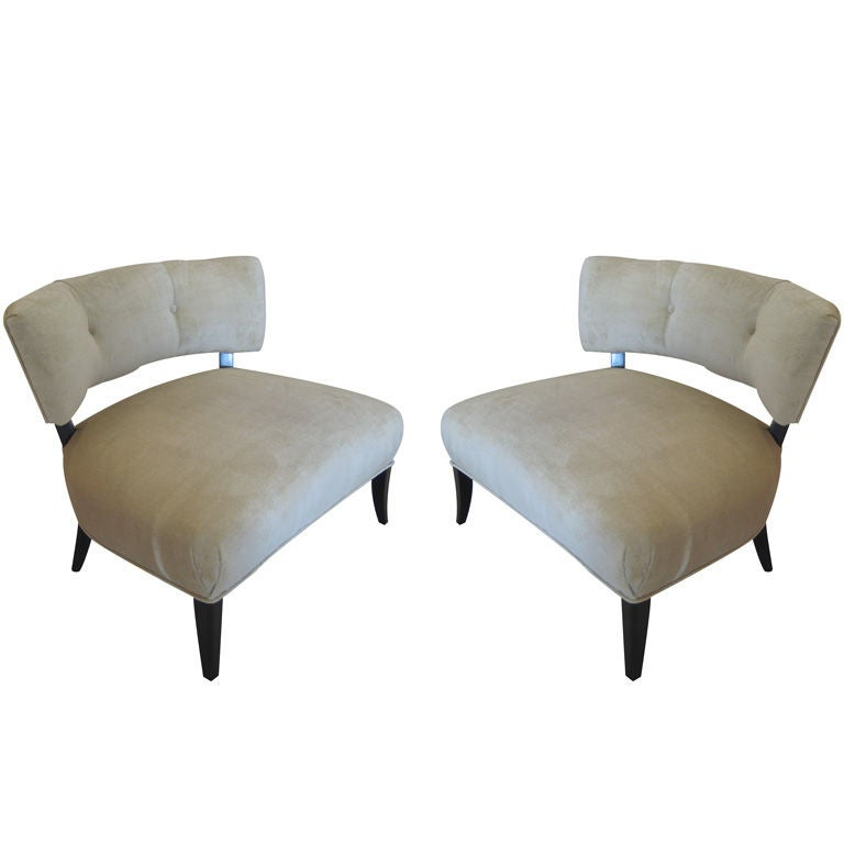 Awesome Pair Of Vintage Billy Haines Slipper Chairs 1