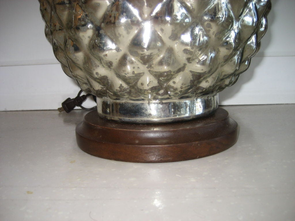 Pair Of Vintage Mercury Glass Pineapple Lamps At 1stdibs