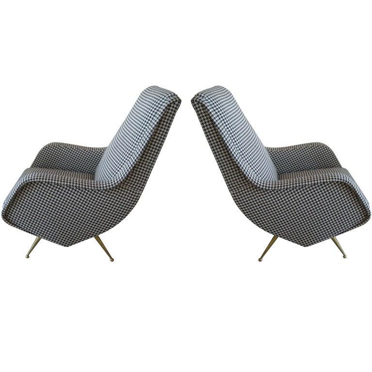Pair of italian vintage armchairs at 1stdibs for Retro italian xxx